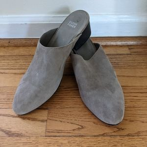 Eileen Fisher Sylvia Slip On Suede Mules Taupe 9